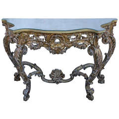 19th Century French Giltwood Console with Mirrored Top