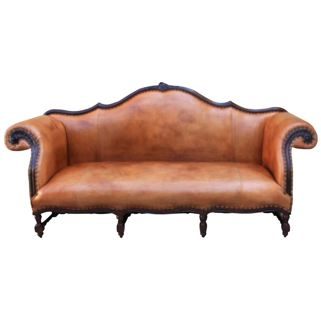Ralph Lauren Leather Upholstered Sofa At 1stdibs ~ Rolled Arm Leather Sofa