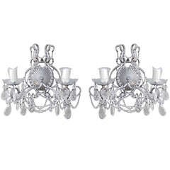 Pair of Macaroni Beaded Two-Light Sconces