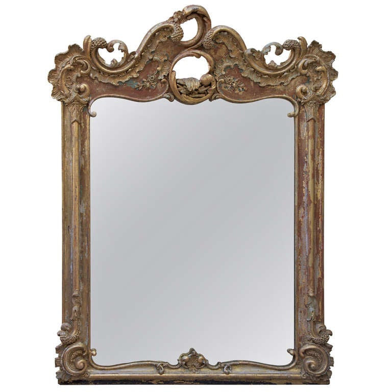 19th century french giltwood rococo style mirror at 1stdibs