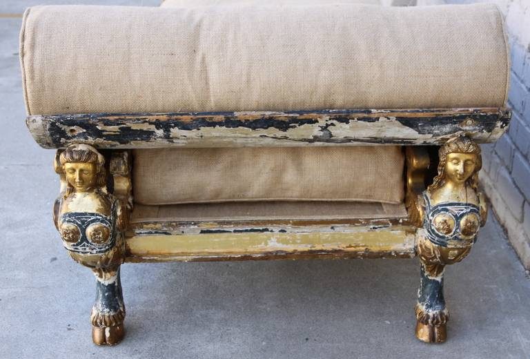 19th Century Egyptian Revival Chaise At 1stdibs