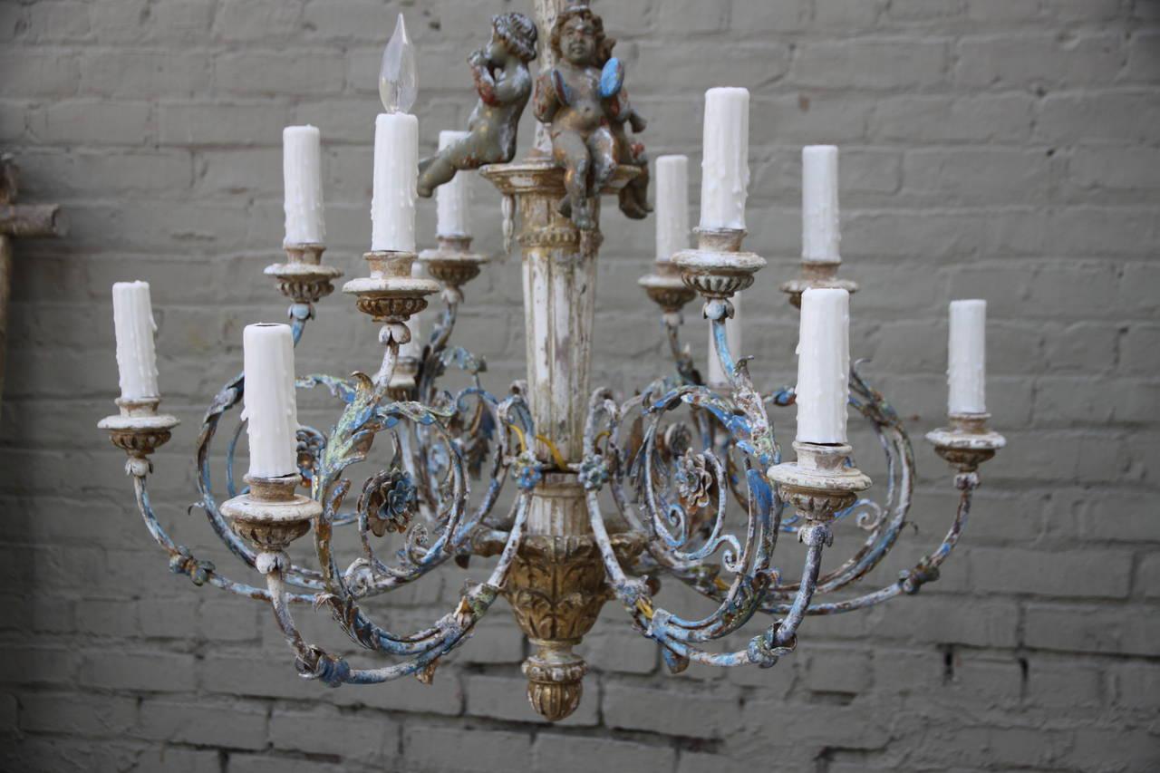 28 valhalla 12 light wooden chandelier italian wood for Sacral agenesis bathroom