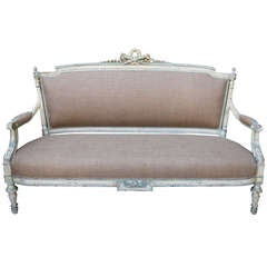 19th Century Painted French Settee
