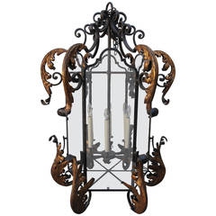 Monumental Hand-Wrought Iron Lantern