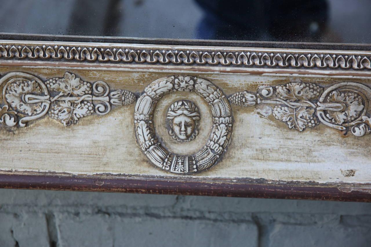 American 19th Century Italian Giltwood Mirror For Sale