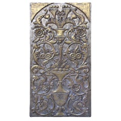 Silver & Gold Leaf Carved Panel, circa 1930s