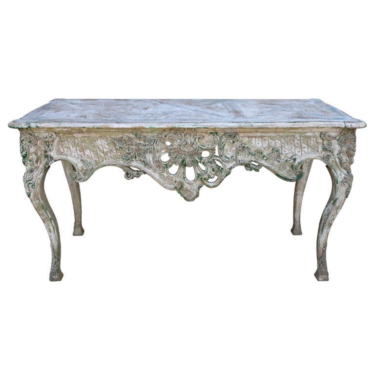french carved painted console table at 1stdibs