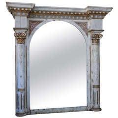 Carved Monumental Italian Mirror