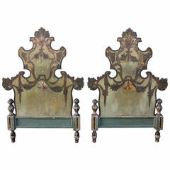 Pair of Italian Painted Headboards