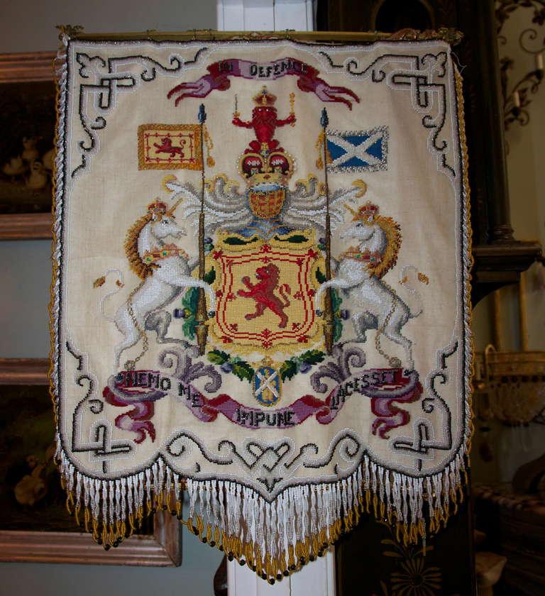 19th C Scottish Beaded Textile At 1stdibs