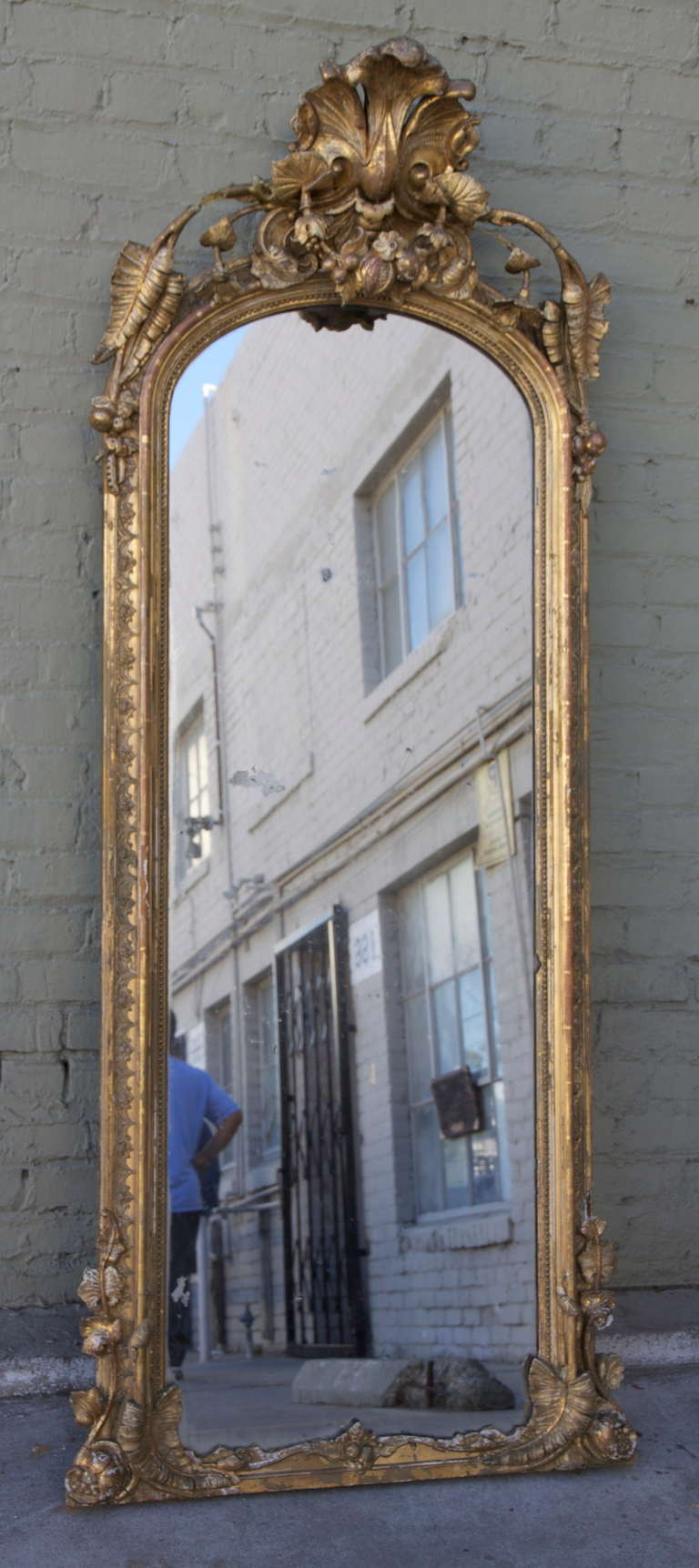 19th Century French Carved Pier Mirror At 1stdibs