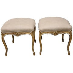 Pair of French Louis XV Style Benches