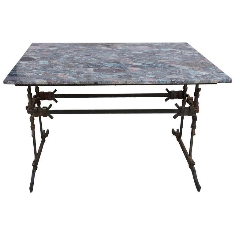 This French Wrought Iron amp Marble Bistro Table Is No Longer Available
