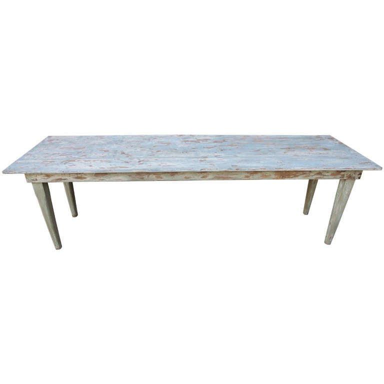 French Country Painted Dining Table
