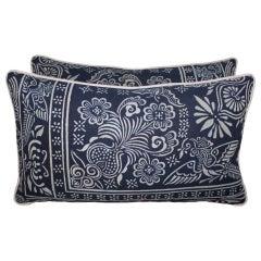 Pair of Vintage Batik Pillows