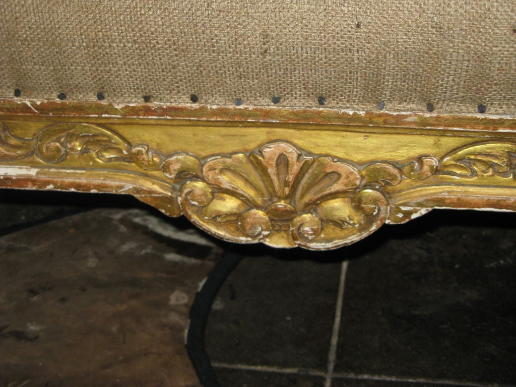 Amazing photo of French Gilt Wood Carved Sofa circa 1900's at 1stdibs with #9F842C color and 1024x768 pixels