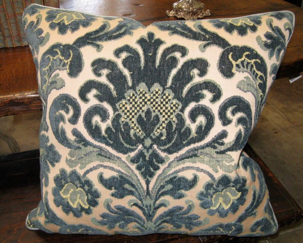 #101-Pair of Vintage Cut Velvet Pillows circa 1940's 2