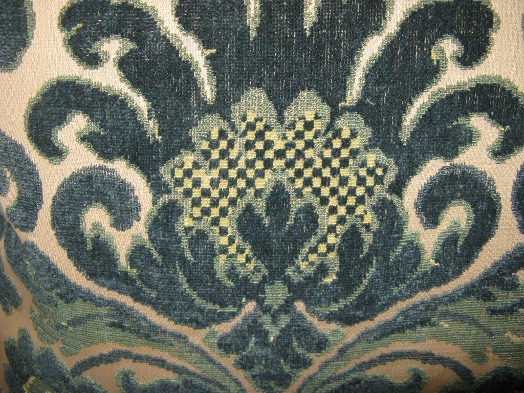 #101-Pair of Vintage Cut Velvet Pillows circa 1940's 4