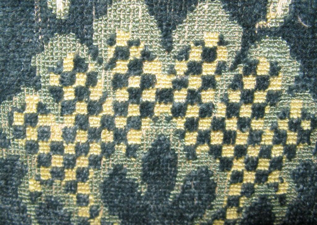 #101-Pair of Vintage Cut Velvet Pillows circa 1940's 5