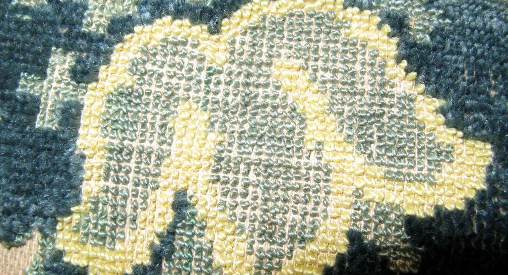 #101-Pair of Vintage Cut Velvet Pillows circa 1940's 7
