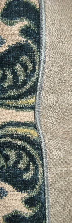 #101-Pair of Vintage Cut Velvet Pillows circa 1940's 8