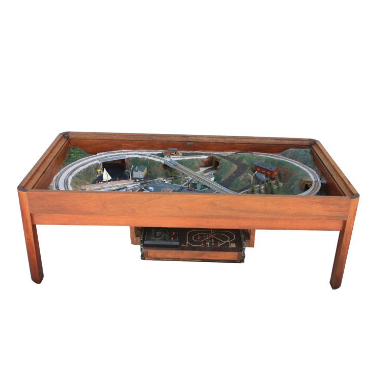 Unique Coffee Table With Built In Train Set At 1stdibs