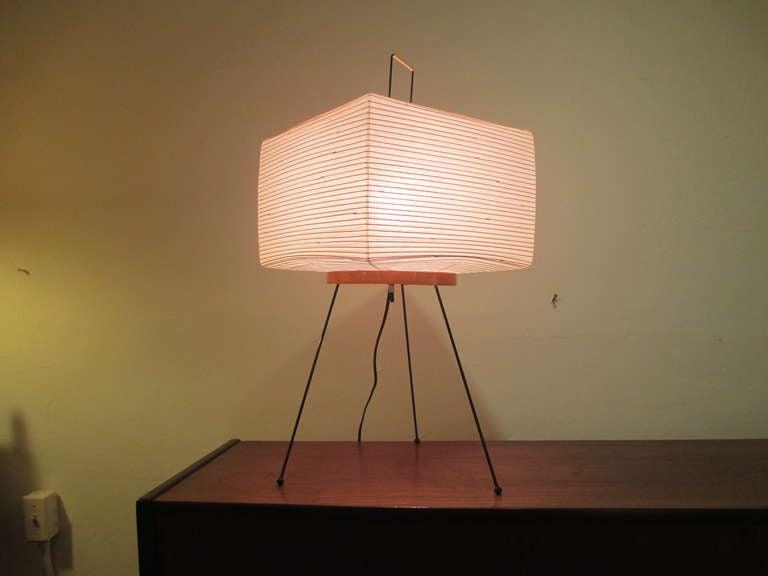 isamu noguchi lighting. isamu noguchi akari lamp with square shade 2 lighting