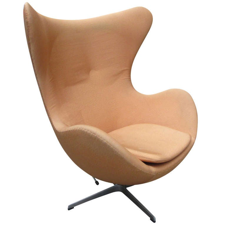 reclining arne jacobsen egg chair for fritz hansen at 1stdibs. Black Bedroom Furniture Sets. Home Design Ideas
