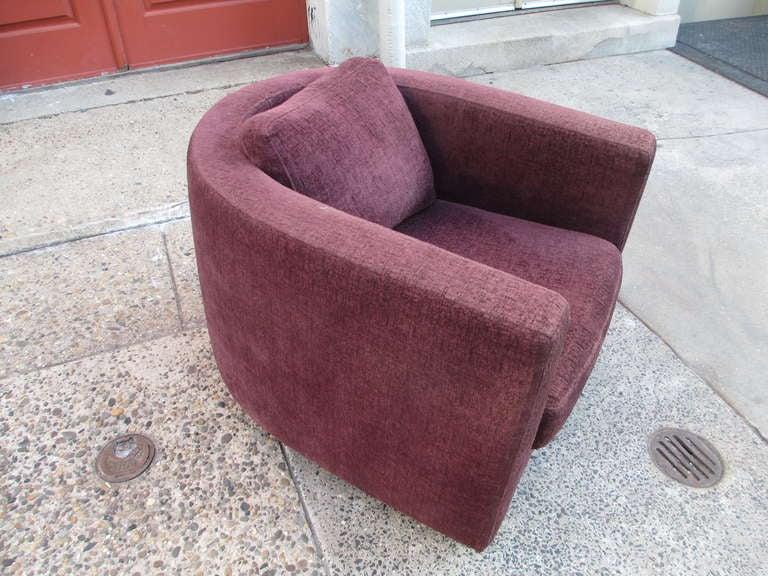 Maurice Villency U Shaped Club Chair 2