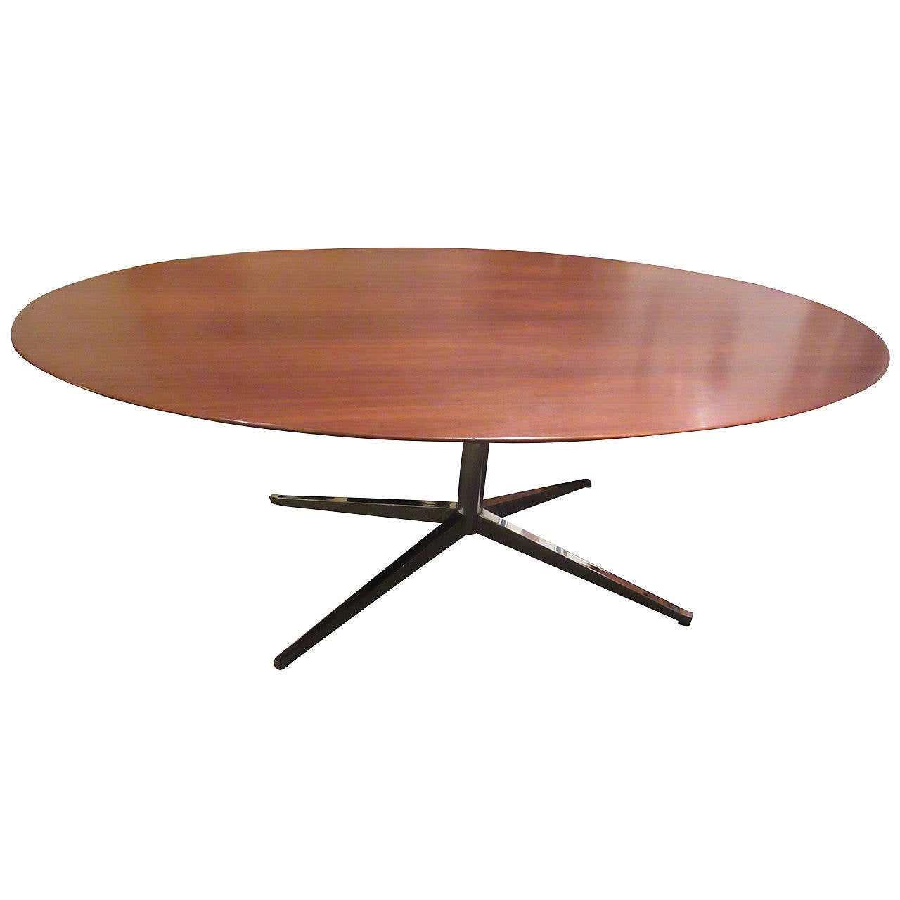 Florence Knoll Oval Walnut Dining Table For Sale
