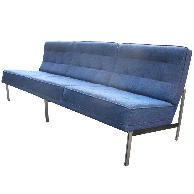 Florence knoll double bar sofa for knoll associates at 1stdibs for Knoll and associates