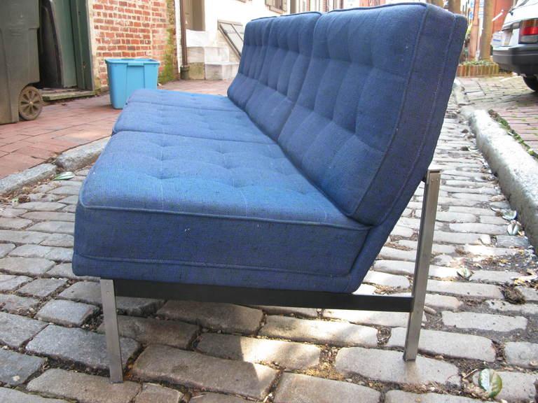 Florence knoll double bar sofa for knoll associates at 1stdibs for Knoll associates
