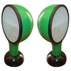 Pair Adam Tihani/Alberto del lago Drive lamps for Francesconi