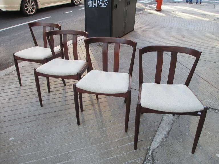 Raymor set of four danish teak dining chairs at 1stdibs