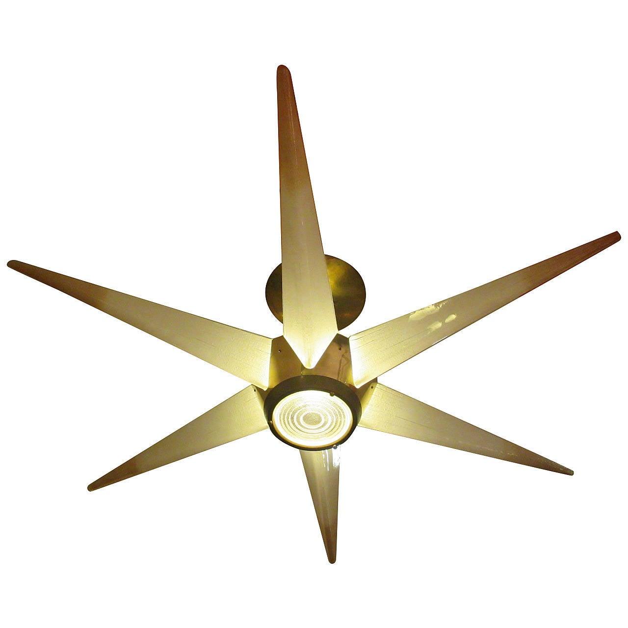 Lightolier Ring Chandelier At 1stdibs: Lightolier Star Chandelier At 1stdibs