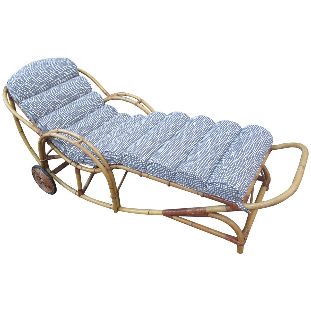 1930s rattan chaise longue at 1stdibs for Chaise longue furniture