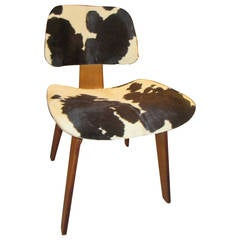 Charles Eames Evans Label DCW Chair in Calfskin