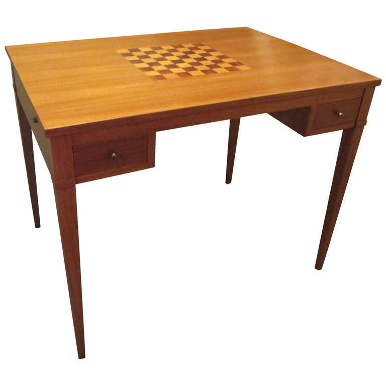 Teak Chess Or Gaming Table At 1stdibs