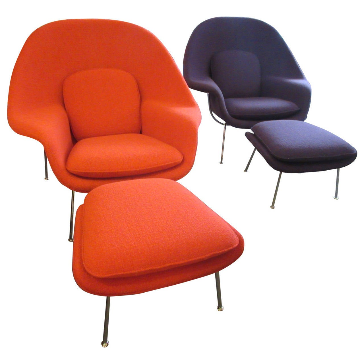 Womb Lounge Chair eero saarinen womb chairs and ottomansknoll at 1stdibs