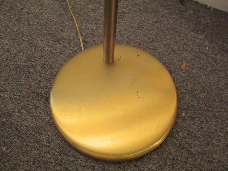 One Walter Von Nessen Adjustable Floor Lamp In Brass At