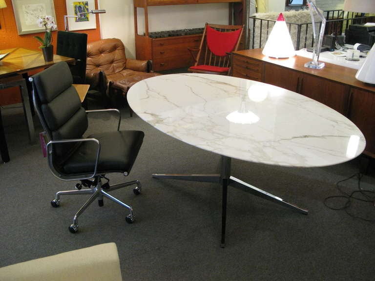 Florence Knoll For Knoll International Marble Top Oval