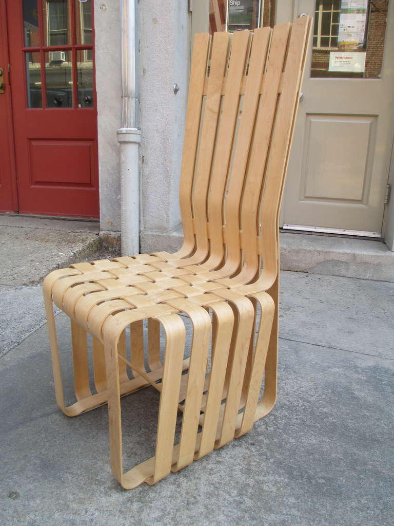 70s chairs is frank o gehry s cardboard chair wiggle side chair - Frank Gehry High Sticking High Back Chair For Knoll 2