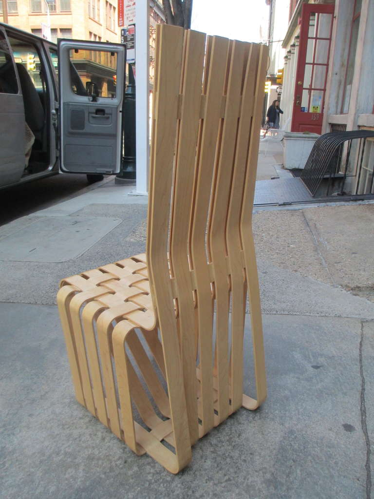 70s chairs is frank o gehry s cardboard chair wiggle side chair - Frank Gehry High Sticking High Back Chair For Knoll 3
