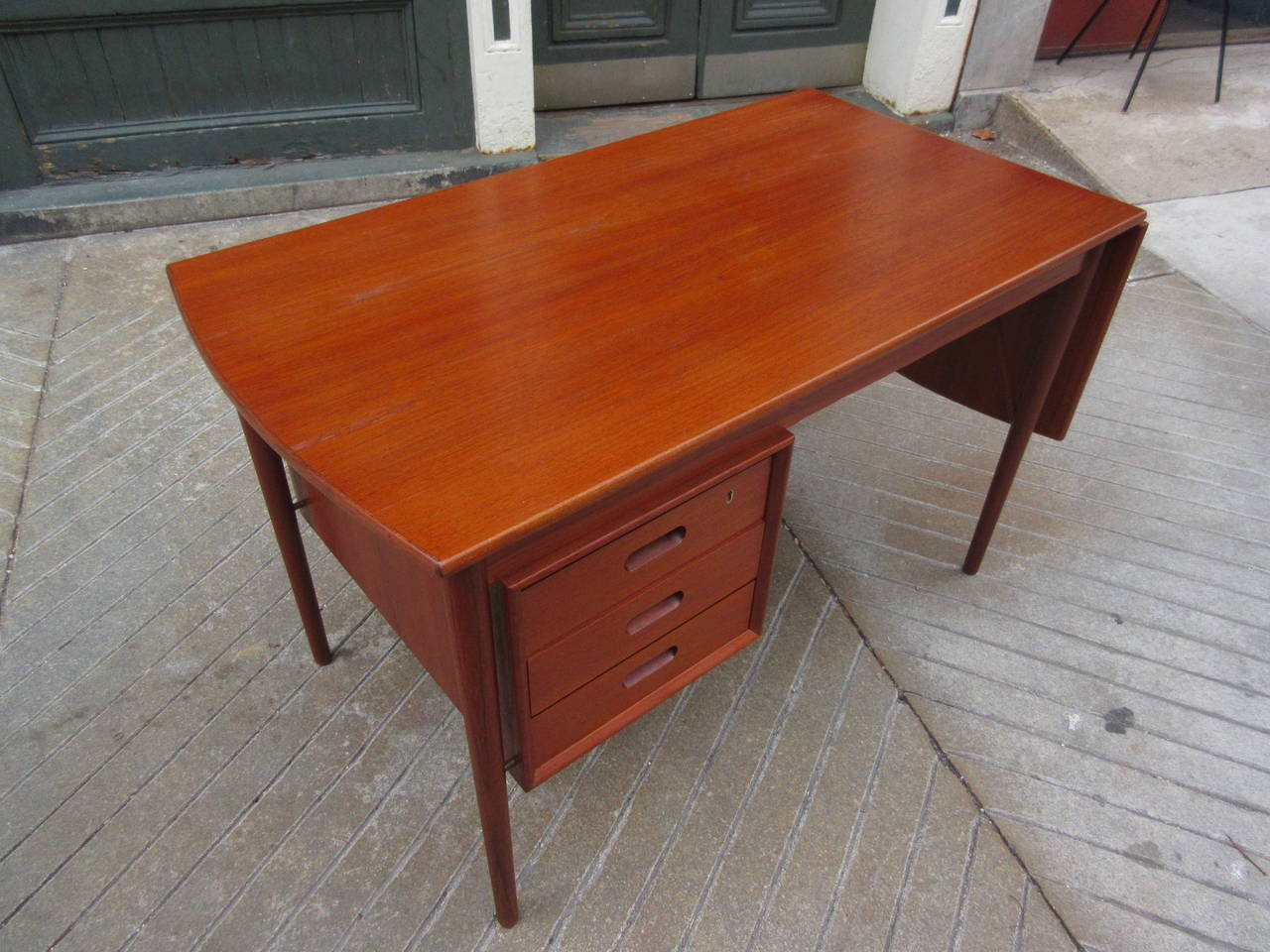 Teak Danish Desk in the Style of Hvidt 2