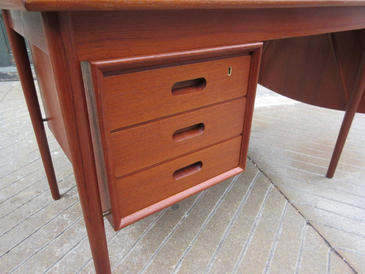 Teak Danish Desk in the Style of Hvidt 3