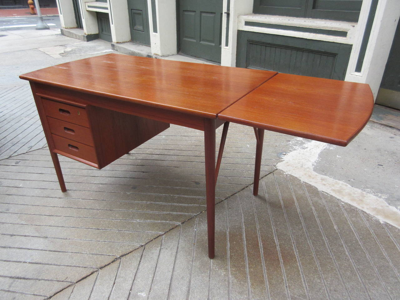 Teak Danish Desk in the Style of Hvidt 4