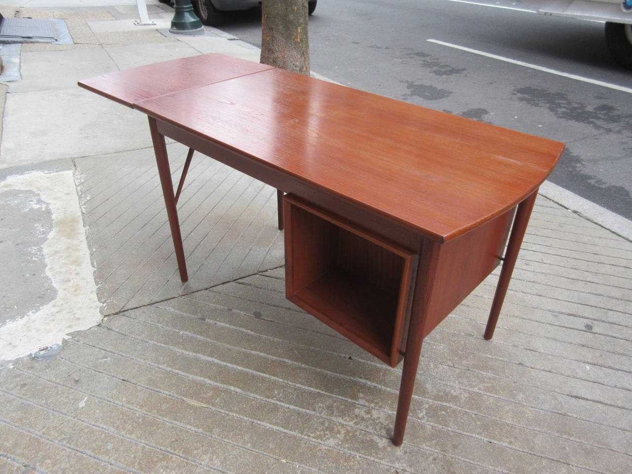 Teak Danish Desk in the Style of Hvidt 5