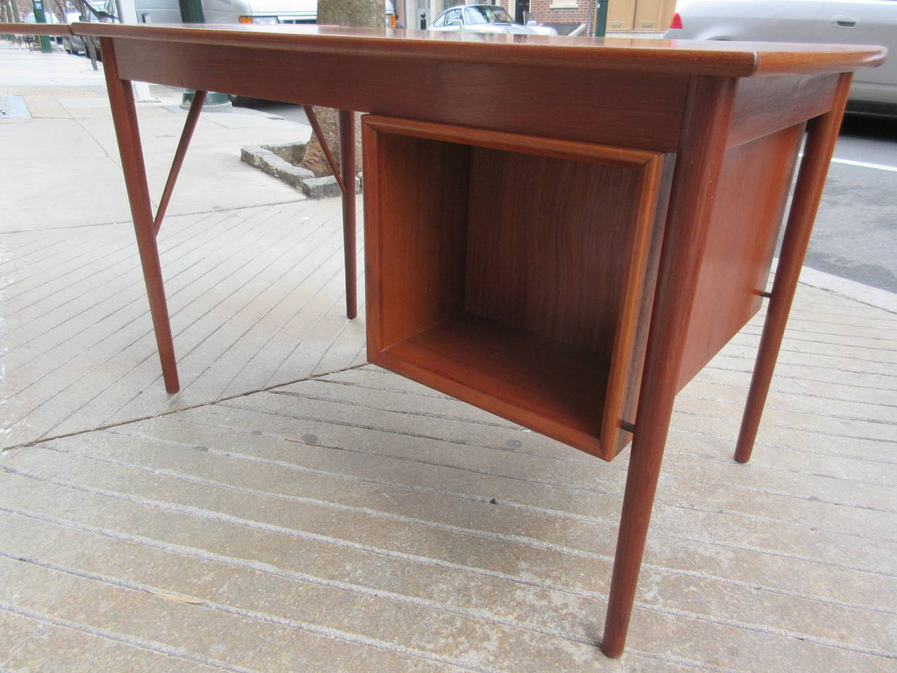 Teak Danish Desk in the Style of Hvidt 6