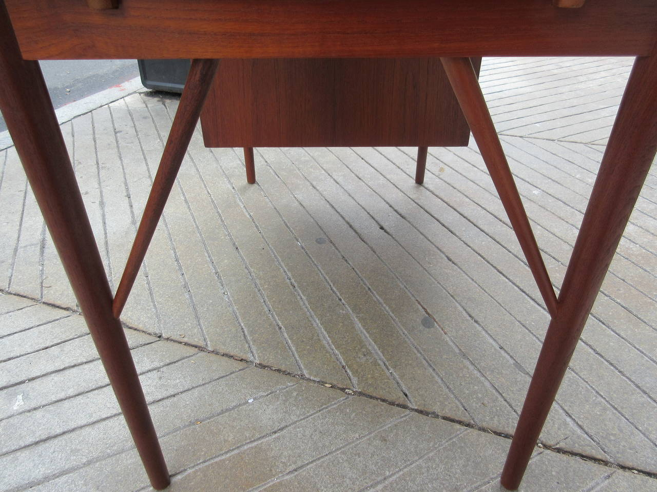 Teak Danish Desk in the Style of Hvidt 7