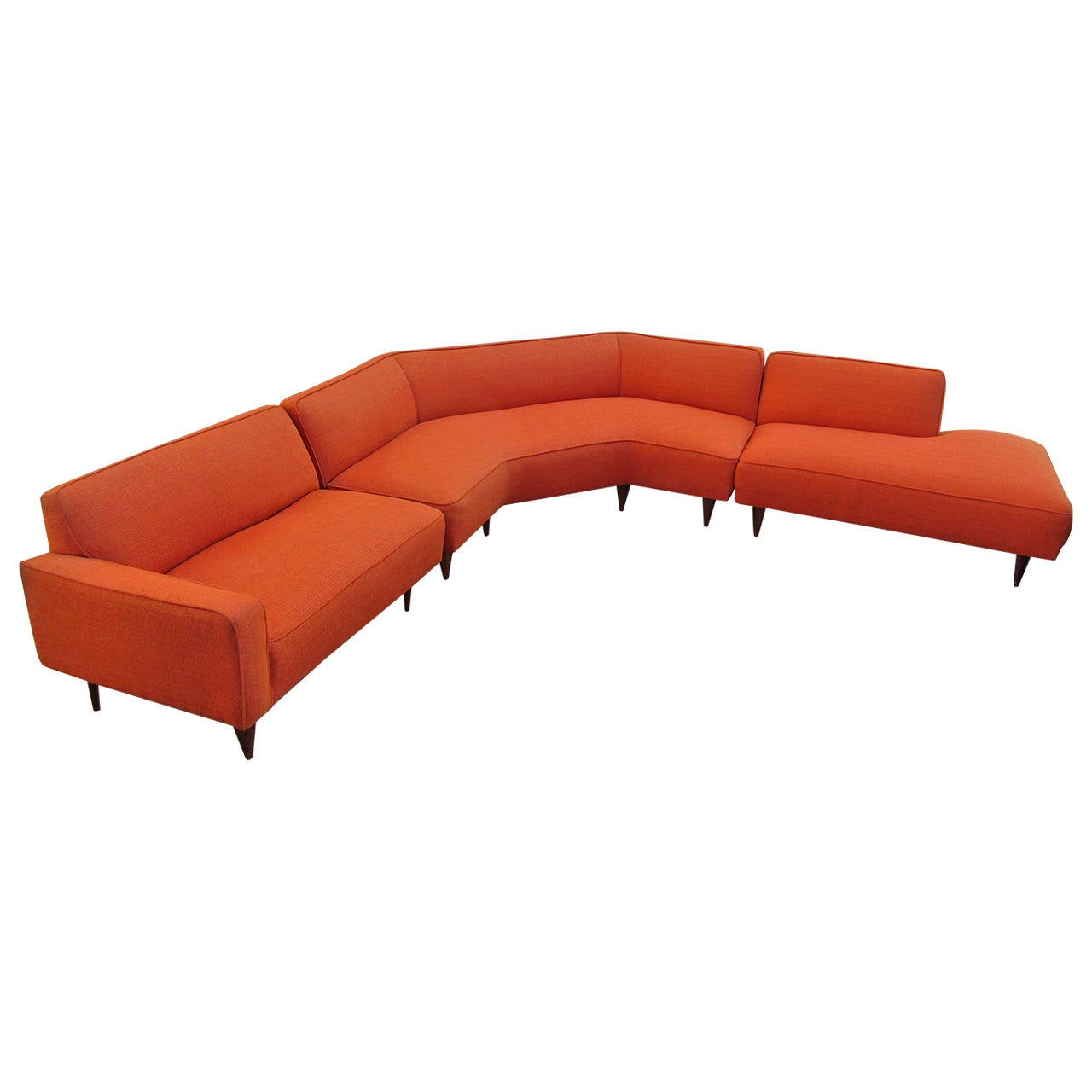 1950s three piece sectional sofa at 1stdibs for Sectional furniture